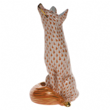 Herend Porcelain Fishnet Figurine of a Fox